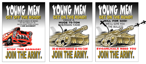 Evolution of recruitment posters